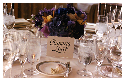 table setting with table name card